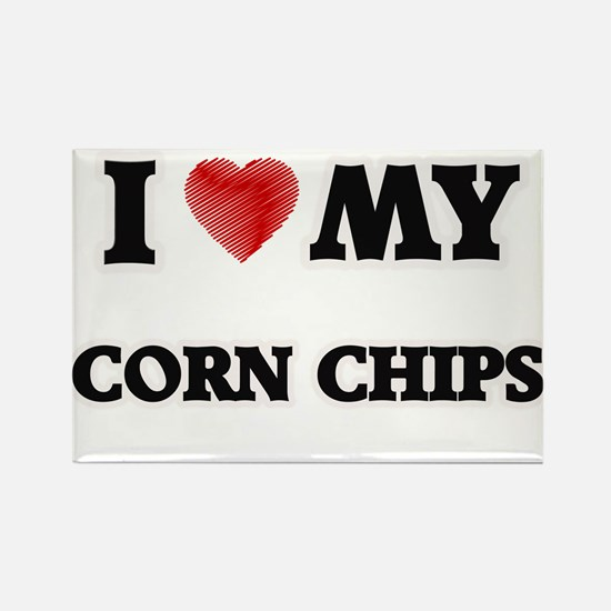 I Love My Corn Chips food design Magnets