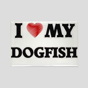 I Love My Dogfish food design Magnets