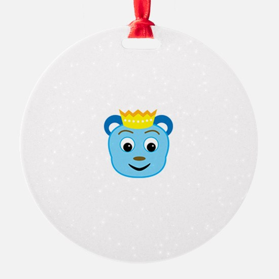 Your Friend: Little King Blue Bear Ornament
