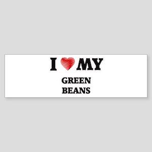 I Love My Green Beans food design Bumper Sticker