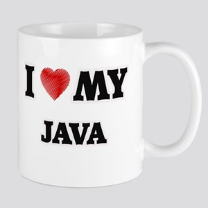 I Love My Java food design Mugs