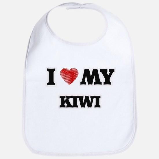 I Love My Kiwi food design Bib
