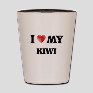 I Love My Kiwi food design Shot Glass