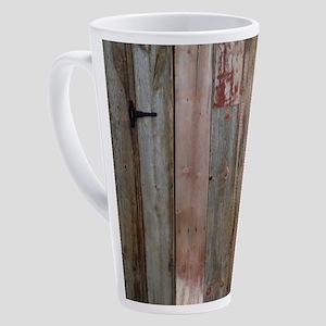 rustic western barn wood 17 oz Latte Mug