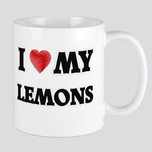 I Love My Lemons food design Mugs