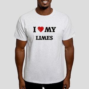 I Love My Limes food design T-Shirt