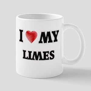 I Love My Limes food design Mugs