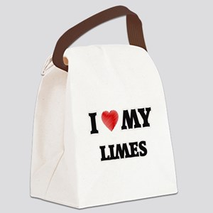 I Love My Limes food design Canvas Lunch Bag