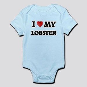 I Love My Lobster food design Body Suit
