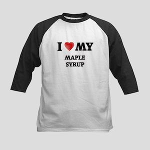 I Love My Maple Syrup food design Baseball Jersey