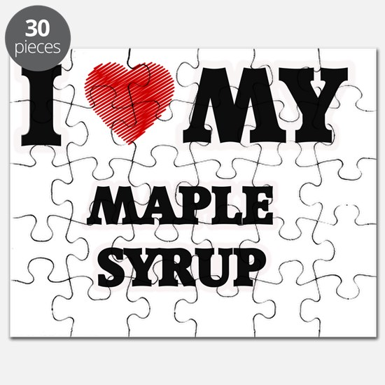 I Love My Maple Syrup food design Puzzle