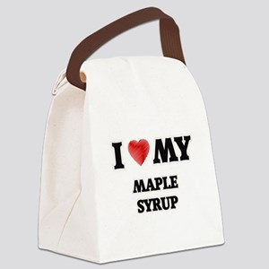 I Love My Maple Syrup food design Canvas Lunch Bag