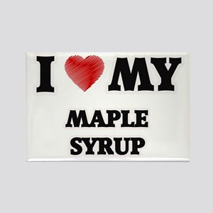 I Love My Maple Syrup food design Magnets