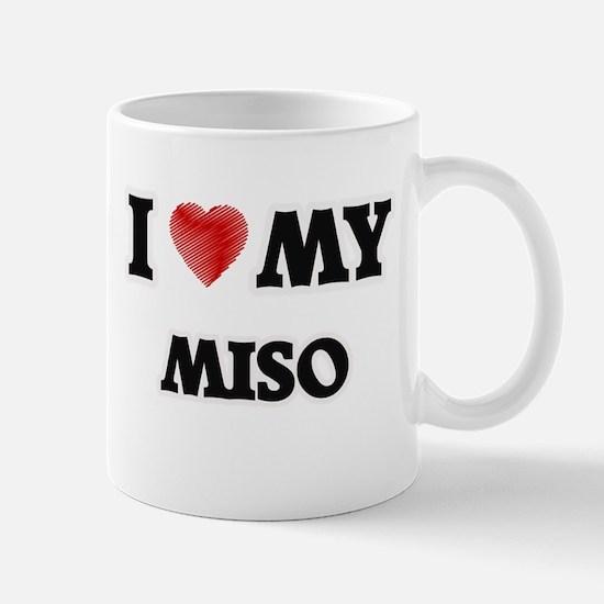 I Love My Miso food design Mugs