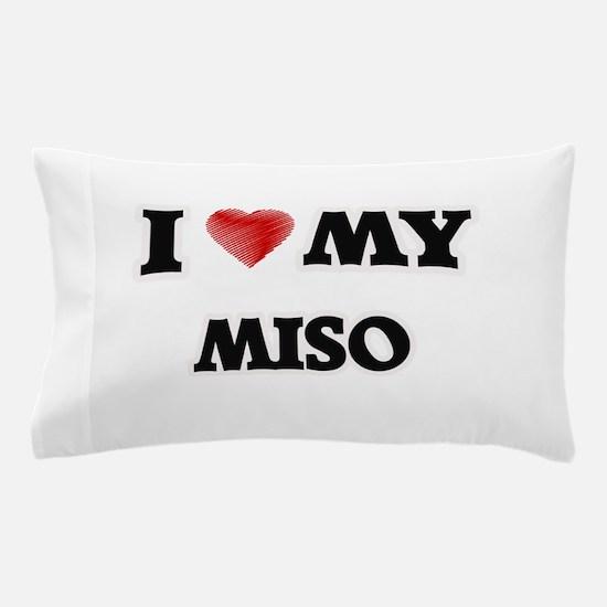 I Love My Miso food design Pillow Case