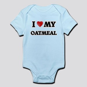 I Love My Oatmeal food design Body Suit