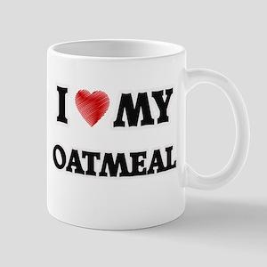 I Love My Oatmeal food design Mugs