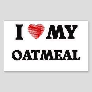I Love My Oatmeal food design Sticker