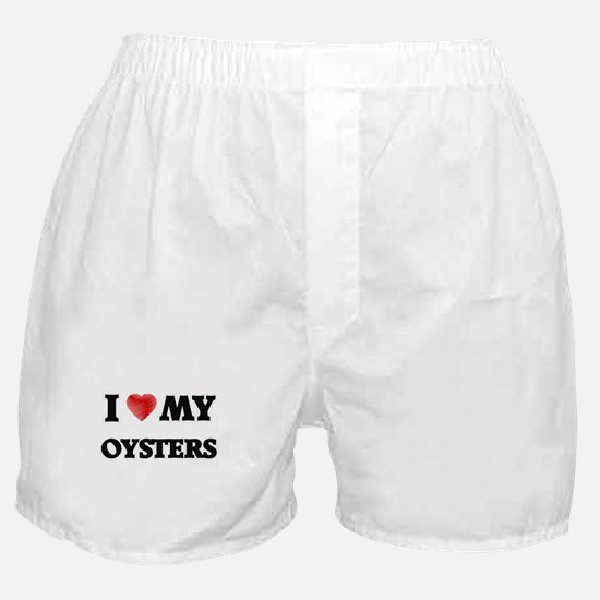 I Love My Oysters food design Boxer Shorts