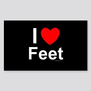 Feet Sticker (Rectangle)