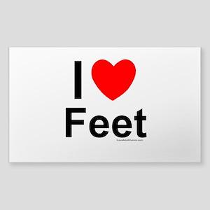 Feet Sticker (Rectangle)