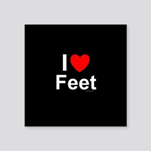 "Feet Square Sticker 3"" x 3"""