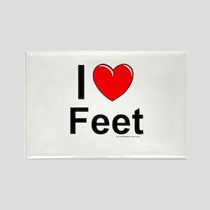 Feet Rectangle Magnet