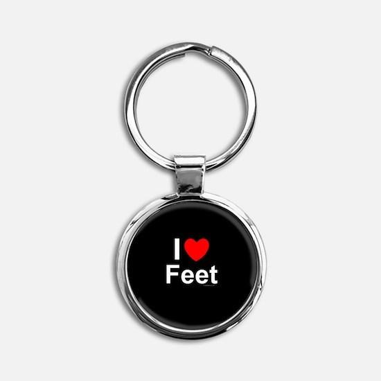 Feet Round Keychain