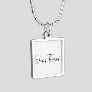 Personalizable Black Script Necklaces