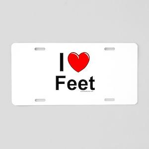Feet Aluminum License Plate