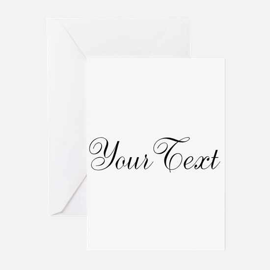 Personalizable Black Script Greeting Cards