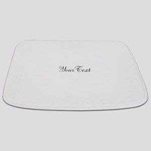 Personalizable Black Script Bathmat