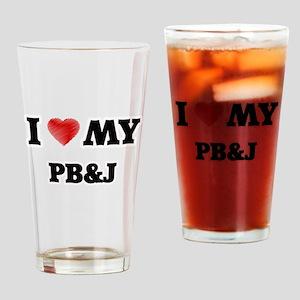 I Love My Pb&J food design Drinking Glass