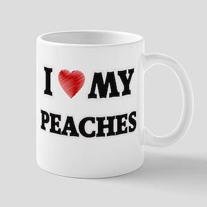I Love My Peaches food design Mugs