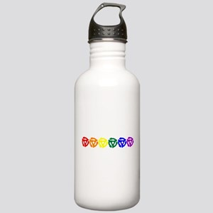 Rainbow 45 RPM Adapters Stainless Water Bottle 1.0
