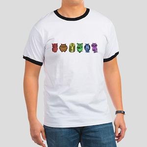 Rainbow Owls Ringer T-Shirt
