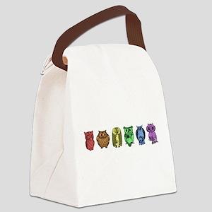 Rainbow Owls Canvas Lunch Bag