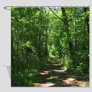 Path into the woods Shower Curtain