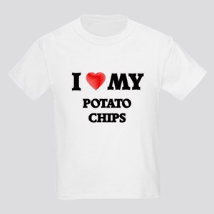 I Love My Potato Chips food design T-Shirt