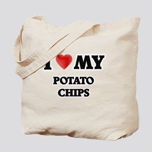 I Love My Potato Chips food design Tote Bag