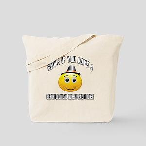 Smile If You Love Gerontological Nurse Pr Tote Bag