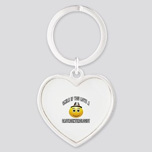Smile If You Love Gastroenterologis Heart Keychain