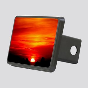 Sunset Red and orange Rectangular Hitch Cover