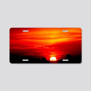 Sunset Red and orange Aluminum License Plate