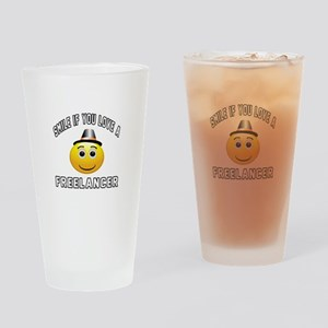 Smile If You Love Freelancer Drinking Glass
