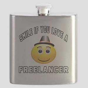 Smile If You Love Freelancer Flask