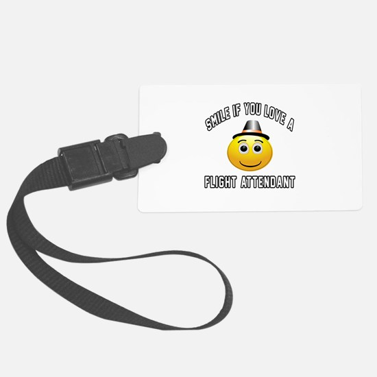 Smile If You Love Flight attenda Large Luggage Tag