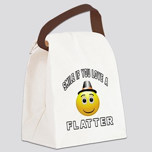 Smile If You Love Flatter Canvas Lunch Bag