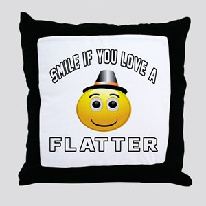 Smile If You Love Flatter Throw Pillow