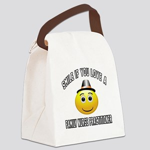 Smile If You Love Family Nurse Pr Canvas Lunch Bag
